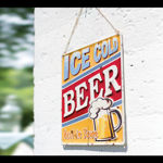 Picture of DECORATIVE SIGNS - ICE COLD BEER (H30 X W30cm)