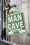 Picture of DECORATIVE SIGNS - MAN CAVE (H30 X W30cm)