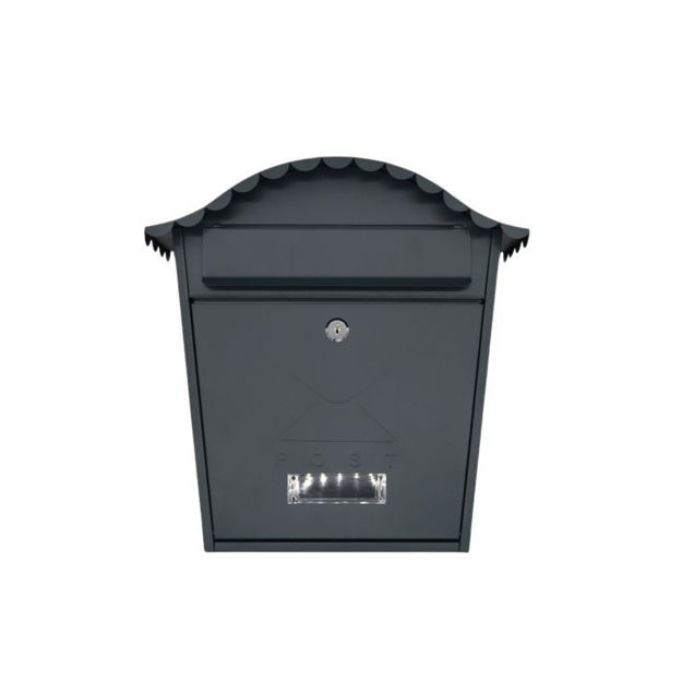 Picture of POST BOX - GREY TRADITIONAL