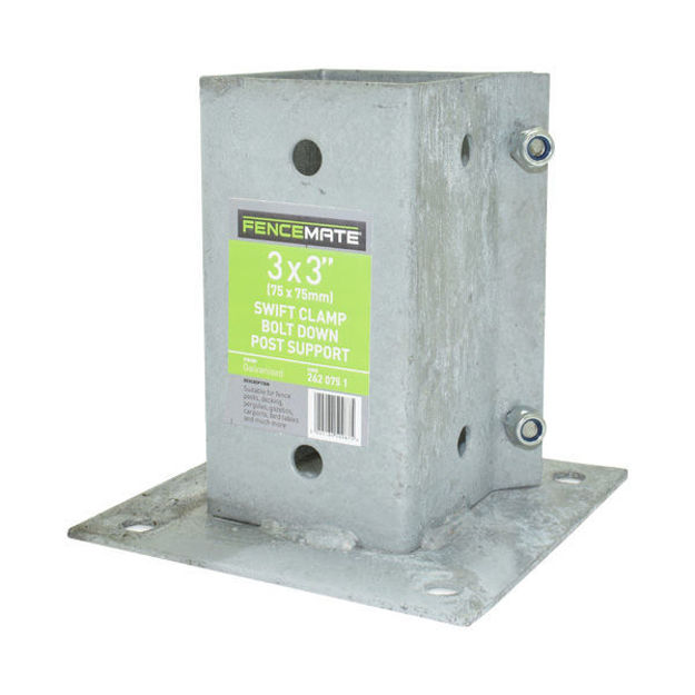 """Picture of POST SUPPORT- 3"""" X 3"""" BOLTDOWN"""