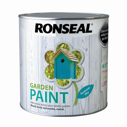 Picture of RONSEAL - GARDEN PAINT SUMMER SKY - GP (2.5L)