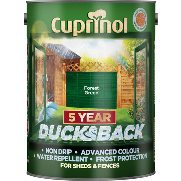 Picture of CUPRINOL DUCKSBACK - FOREST GREEN 5L