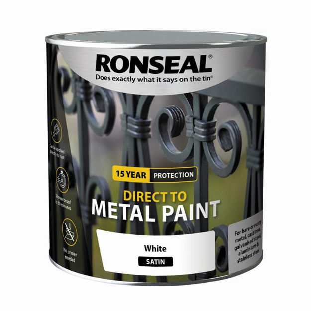 Picture of RONSEAL DIRECT TO METAL - WHITE SATIN 2.5L