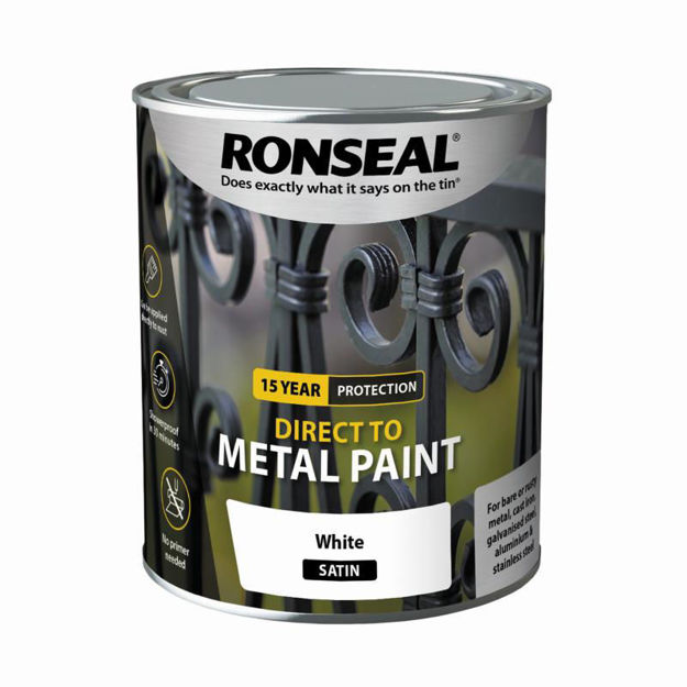 Picture of RONSEAL DIRECT TO METAL - WHITE SATIN 750ML