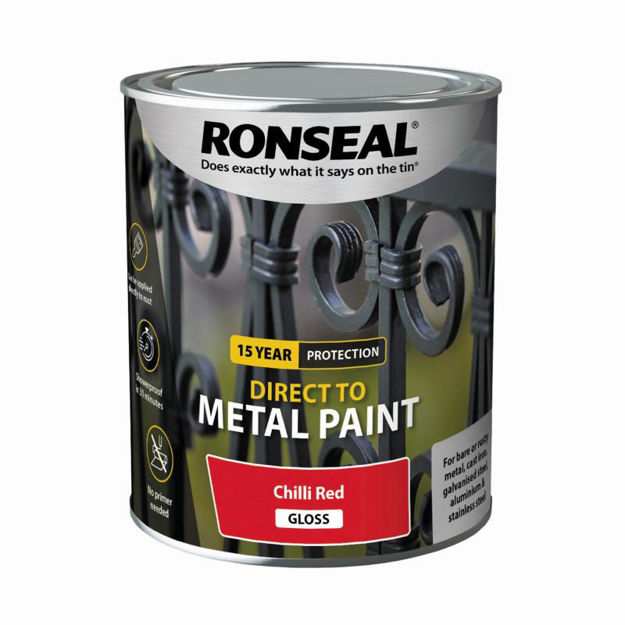 Picture of RONSEAL DIRECT TO METAL - CHILLI RED GLS 750ML