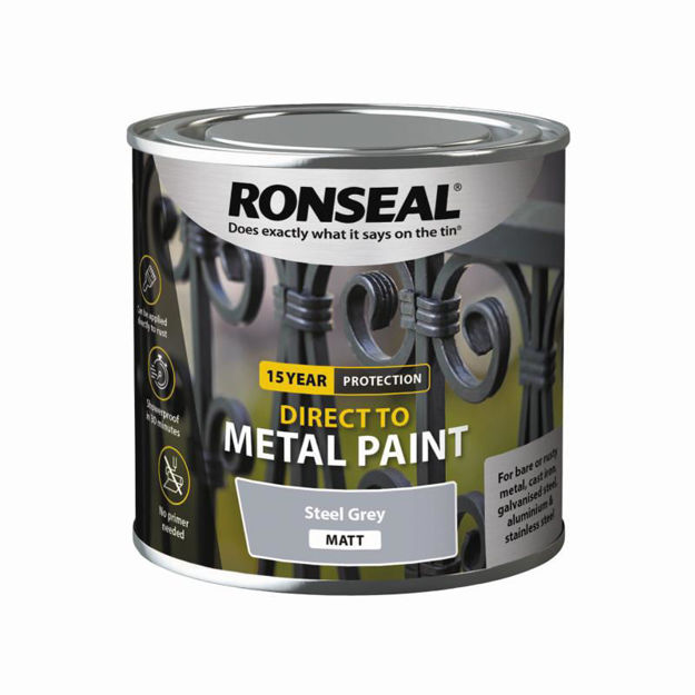 Picture of RONSEAL DIRECT TO METAL - STEEL GRY MATT 250ML