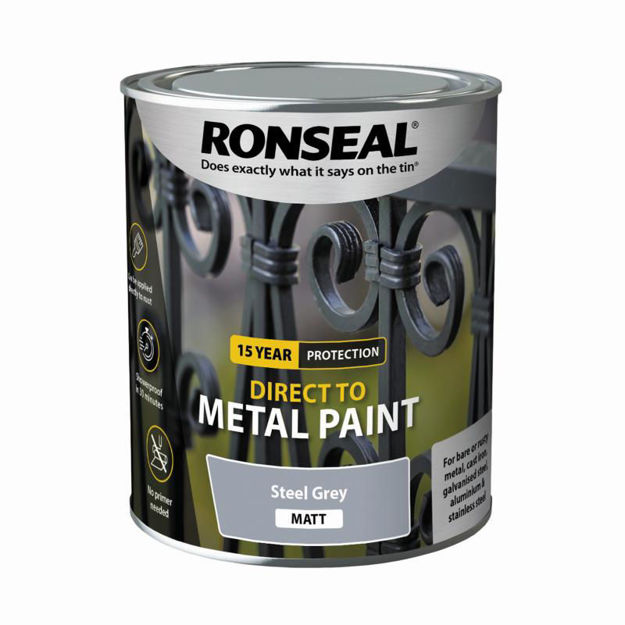 Picture of RONSEAL DIRECT TO METAL - STEEL GRY MATT 750ML