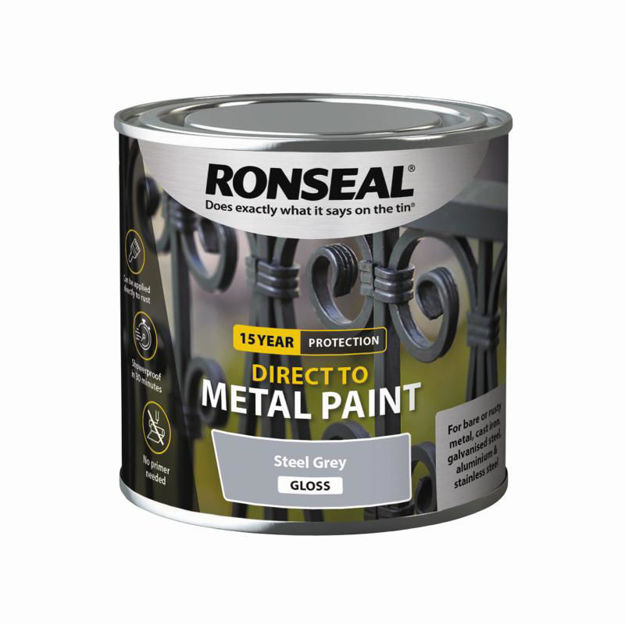 Picture of RONSEAL DIRECT TO METAL - STEEL GRY GLS 250ML
