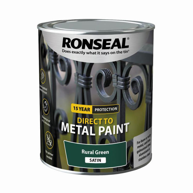 Picture of RONSEAL DIRECT TO METAL - RURAL GRN SATIN 750ML