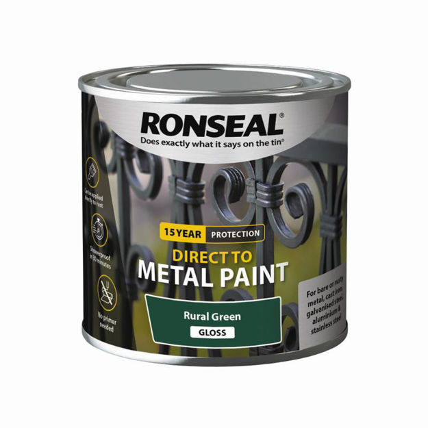 Picture of RONSEAL DIRECT TO METAL - RURAL GRN GLS 250ML