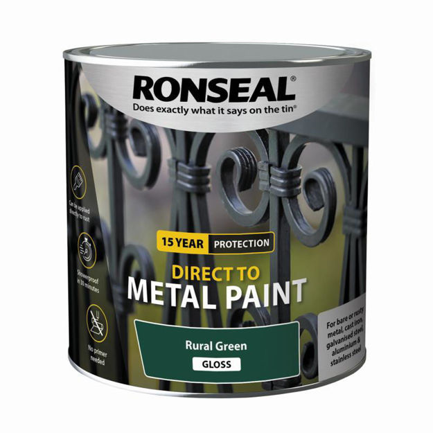 Picture of RONSEAL DIRECT TO METAL - RURAL GRN GLS 2.5L