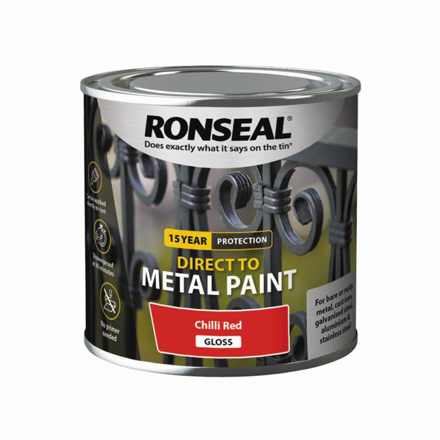 Picture of RONSEAL DIRECT TO METAL - CHILLI RED GLS 250ML