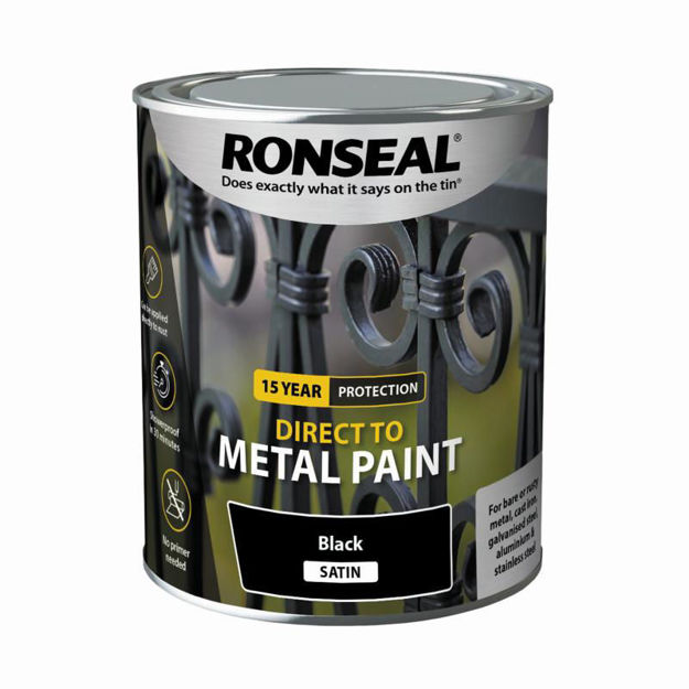 Picture of RONSEAL DIRECT TO METAL - BLK SATIN 750ML