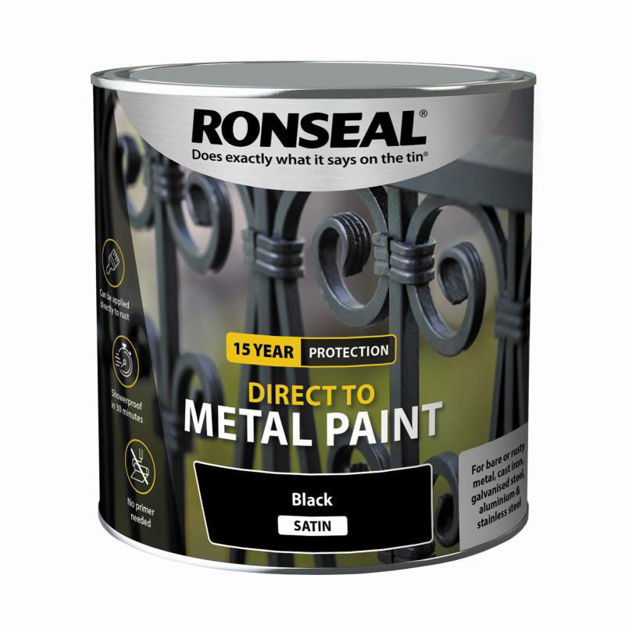 Picture of RONSEAL DIRECT TO METAL - BLK SATIN 2.5L