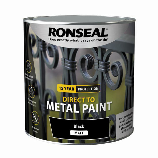 Picture of RONSEAL DIRECT TO METAL - BLK MATT 2.5L