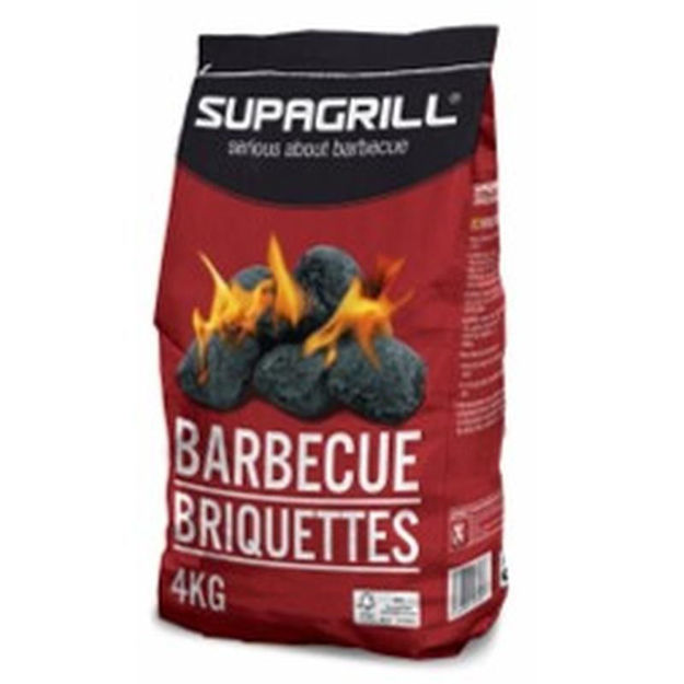 Picture of CHARCOAL - SUPAGRILL BBQ BRIQUETTES 4KG