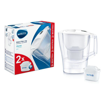 Picture of BRITA WATER JUG ALUNA 2 FREE FILTER