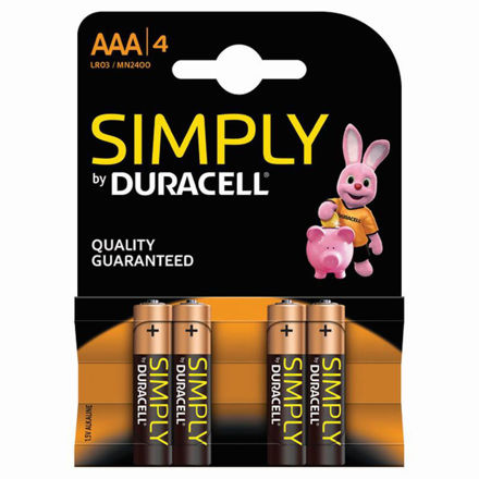Picture of BATTERY - AAA D/CELL 4Pk (SIMPLY)