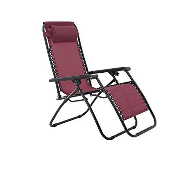 Picture of CHAIR - ZERO GRAVITY BURGUNDY  - 2 FOR €99
