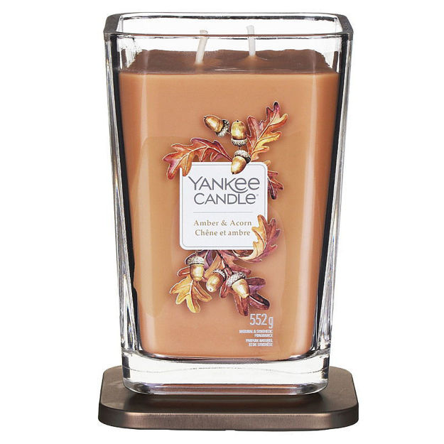 Picture of YANKEE CANDLE - LARGE ELEVATION AMBER & ACORN
