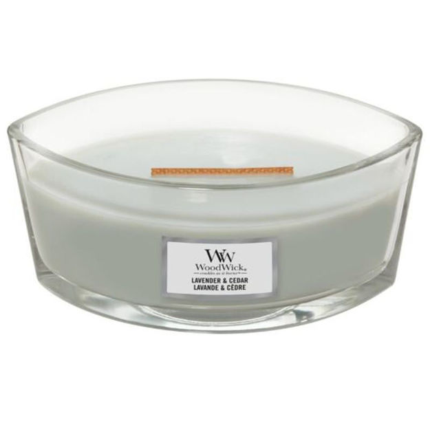 Picture of WOODWICK CANDLE - ELLIPSE LAVENDER & CEDER