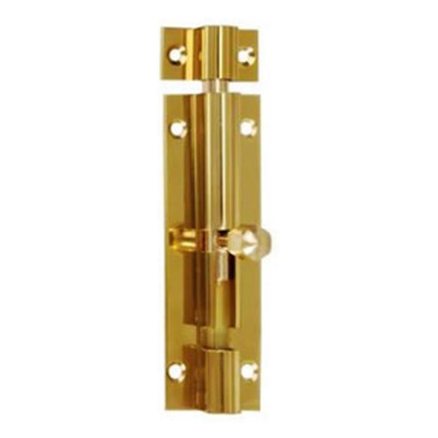 """Picture of BARRELL BOLT BRASS 4""""  CR/CO"""