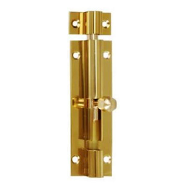 """Picture of BARRELL BOLT BRASS 3""""  CR/CO"""