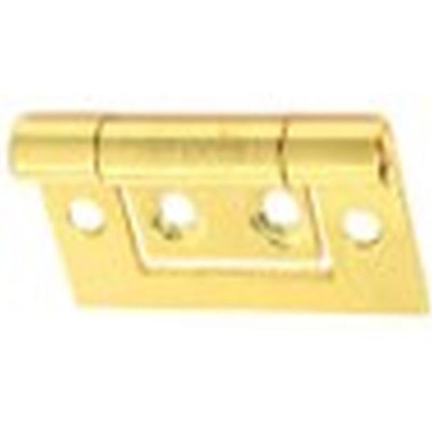 """Picture of HINGE - FLUSH BRASS 1.1/2"""" (x2pair)"""