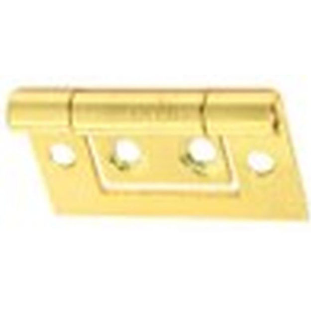 """Picture of HINGE - FLUSH BRASS 2"""" (x1 pair)"""