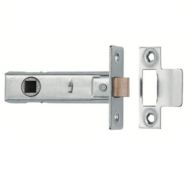 """Picture of TUBULAR LATCH (HEAVY SPRUNG) CHROME 2.5"""""""