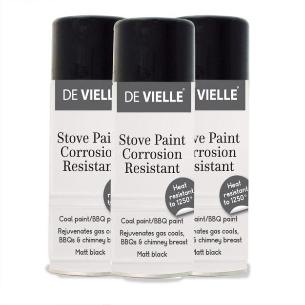 Picture of DEVILLE STOVE, COAL AND BBQ PAINT AEROSOL 400