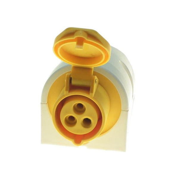 Picture of SURFACE SOCKET YLW 16A 110V