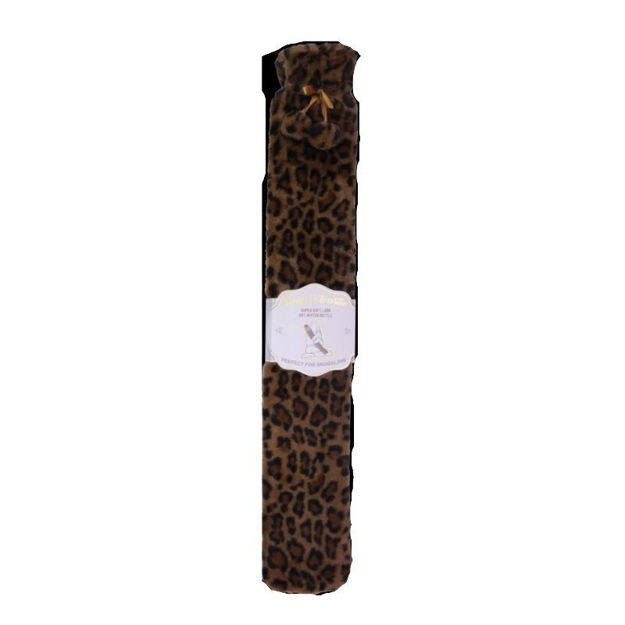 Picture of LONG PLUSH HOT WATER BOTTLE - LEOPARD