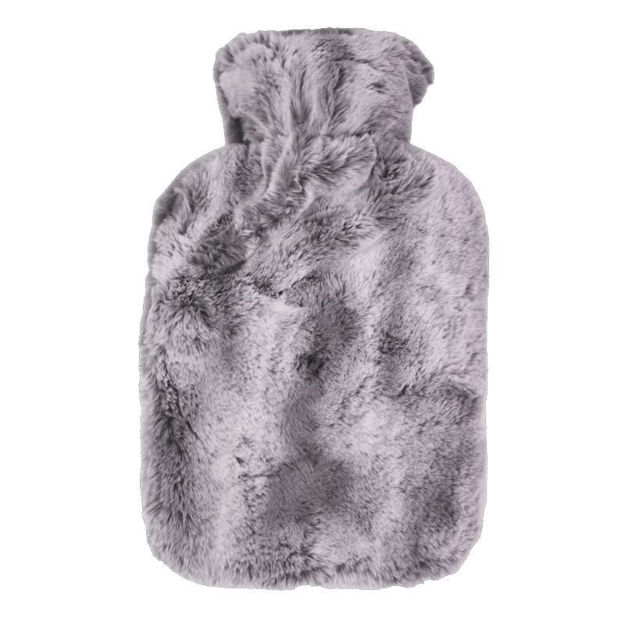 Picture of HOT WATER BOTTLE - 2 TONE PLUSH (GREY)