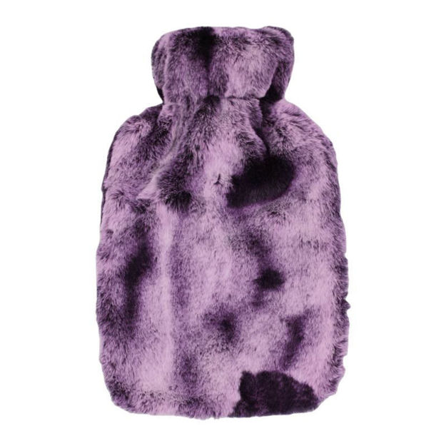 Picture of HOT WATER BOTTLE - 2 TONE PLUSH (PURPLE)