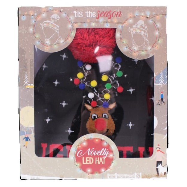 Picture of ADULT NOVELTY XMAS LED HAT - LIGHT