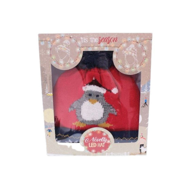 Picture of ADULT NOVELTY XMAS LED HAT - PENGUIN