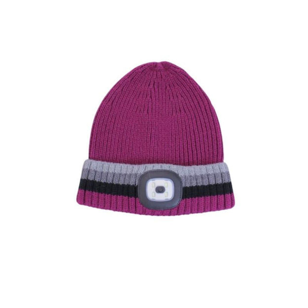 Picture of RECHARGABLE LED TORCH HAT - BERRY