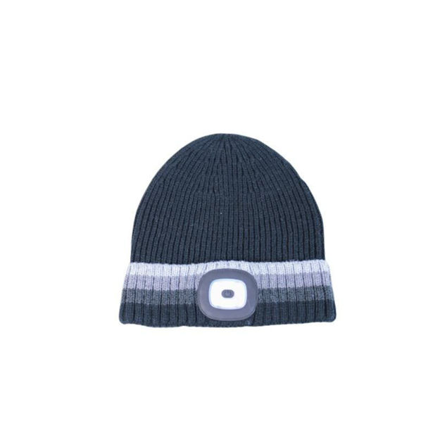 Picture of RECHARGABLE LED TORCH HAT - BLACK