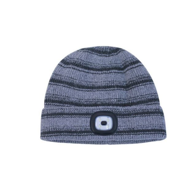 Picture of RECHARGABLE LED TORCH HAT - GREY