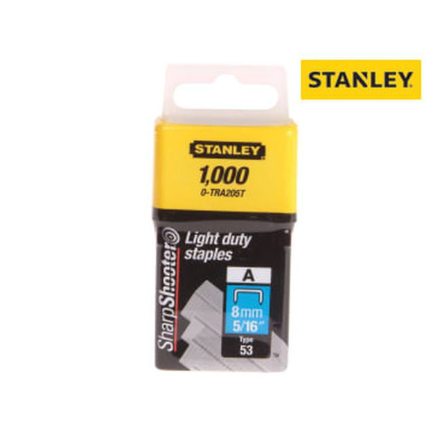 Picture of STAPLES - 8mm LIGHT DUTY 1000 (STANLEY)