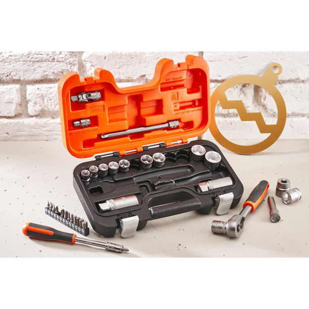 """Picture of SOCKET SET BAHCO 3/8"""" DRIVE 34PC"""